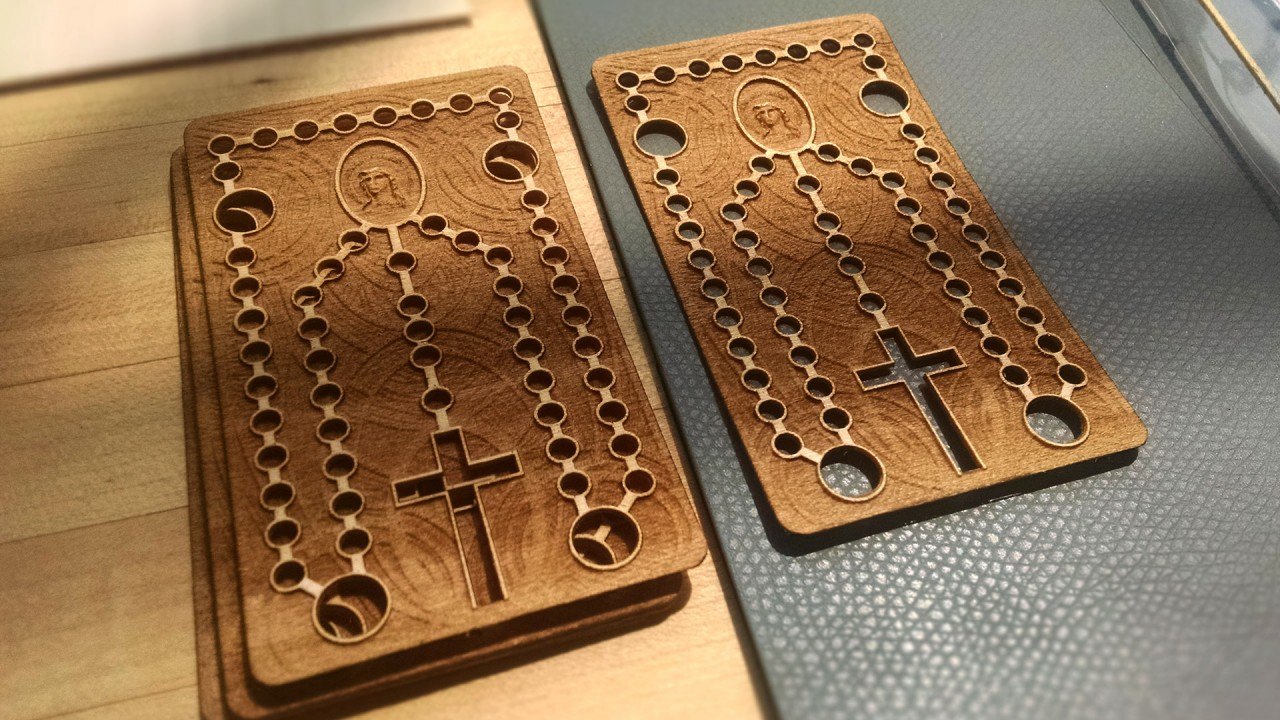 First layer laser cut!